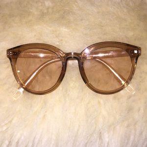 Retro Tan Clear Glasses